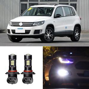 2x-Canbus-H11-3030-21SMD-LED-DRL-Daytime-Running-Fog-Lights-Bulbs-For-VW-Tiguan