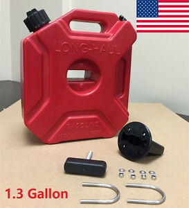 1.3Gallon Gas Spare Container Fuel Pack Can with Mounting Kit ATV UTV Off Road X