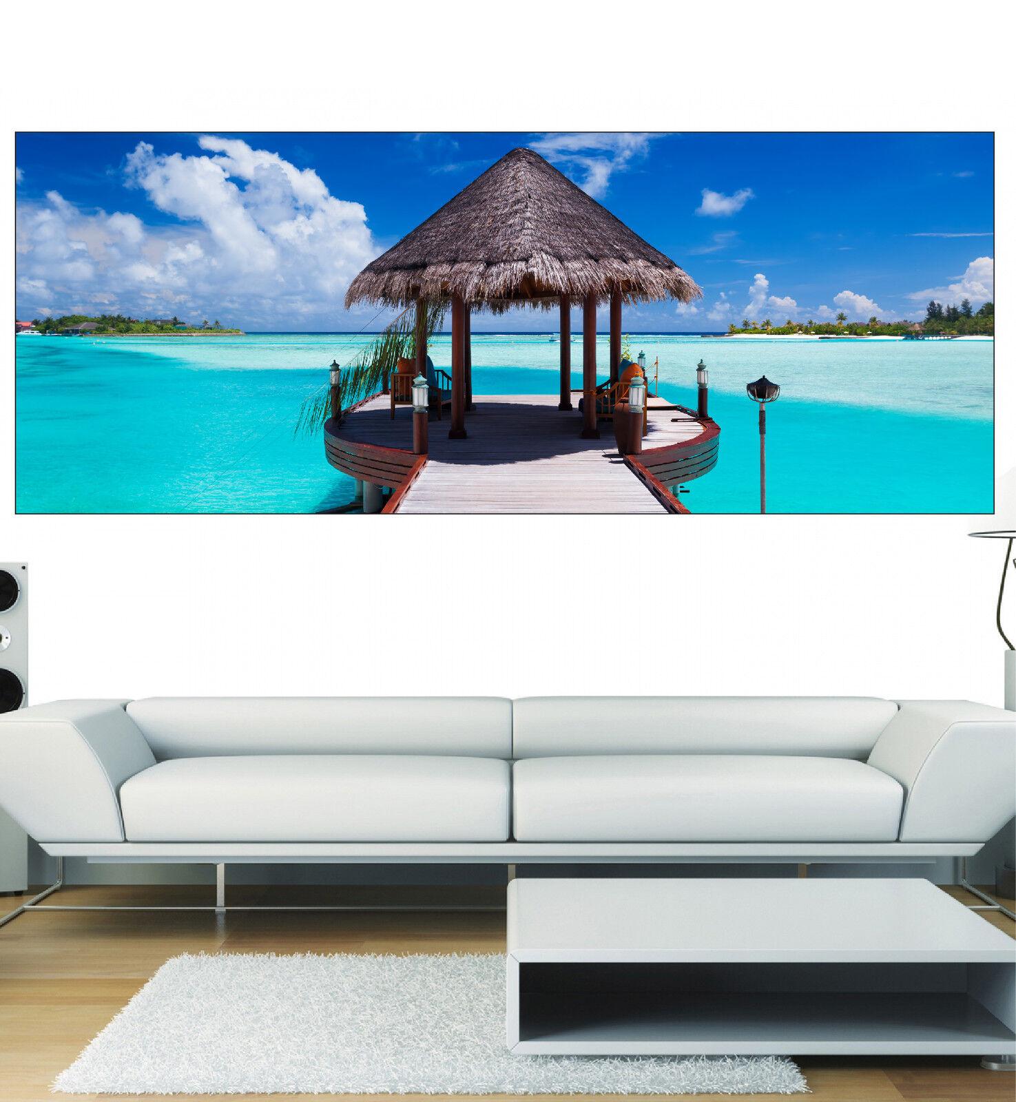 Aufkleber Panorama Deko Wand Maldives Ref 3607 (13 Größe)