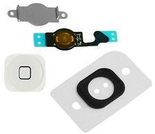Home Menu Button Key Cap Gas Kit + Flex Cable + Bracket for Apple iPhone 5 WHITE