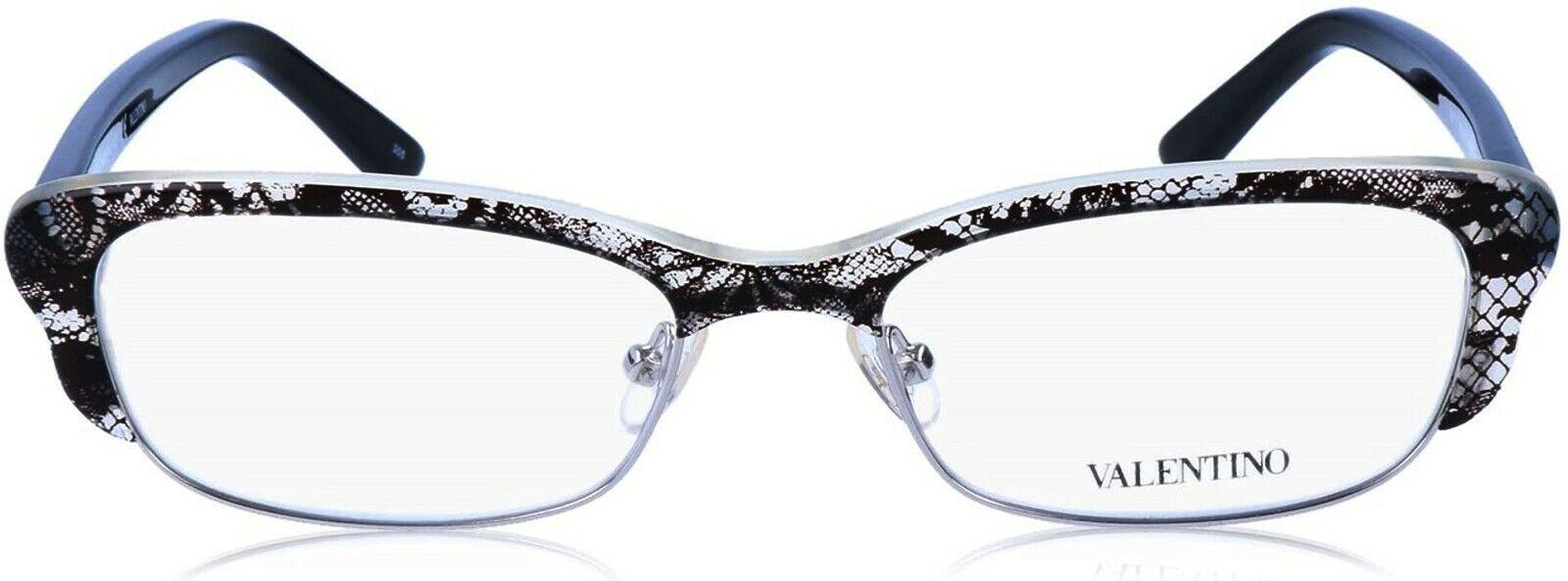 400 New VALENTINO V2117 Black & Grey lace Frame Eyeglasses Glasses Women 52 mm