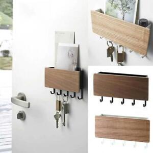 Wooden-Door-Hanger-Wall-Mount-Hooks-Key-Holder-Rack-Organizer-Letter-Box-Mail-UK