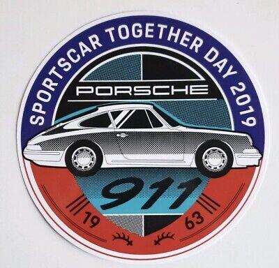 1 NEW RAR PORSCHE SPORTSCAR TOGETHER DAY 2019 STICKER DECAL 911 356 1948 No