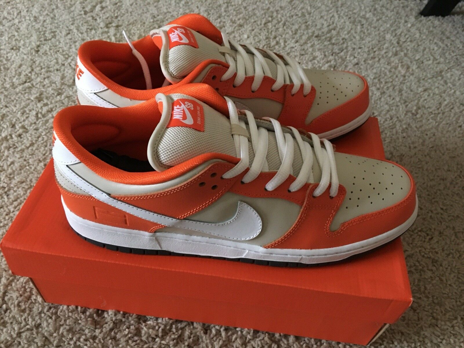 Nike Dunk Low SB Orange Box Size 12 - Rare - Deadstock