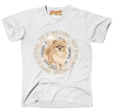 T-shirt Circle Pomeranian Watercolor by siviwonder Unisexe
