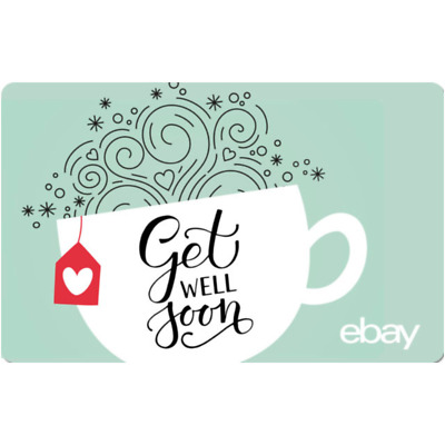 eBay eGift Card - Get Well Soon $25 $50 $100 or $200 - Email Delivery