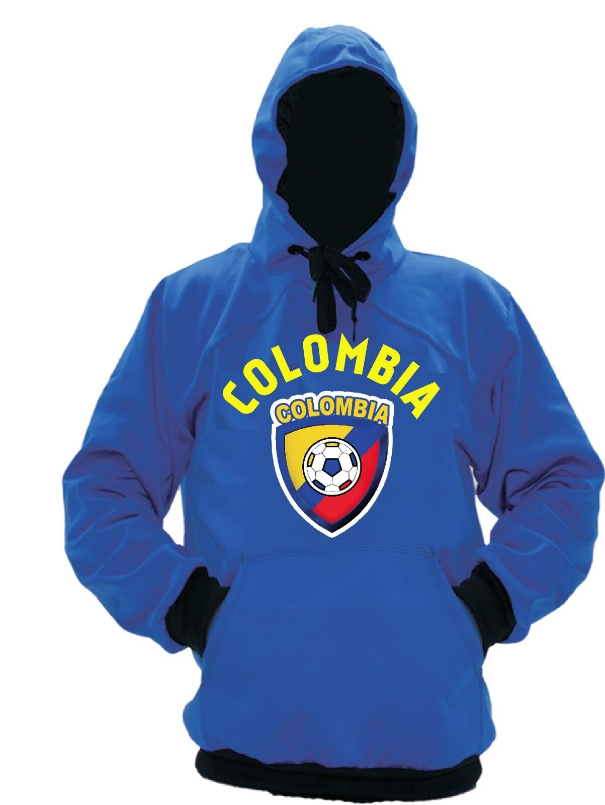 Colombia Polyester Warm Fleece Hoodie Made in USA