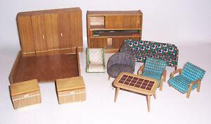 Convolute-DDR-Design-Mobilier-de-Maison-de-Poupee-60er-Annees-Retro-Vintage