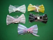 Set Haarspangen Kinder Mädchen Ballett weiß rosa lila gelb schwarz Glitzer Nr.19