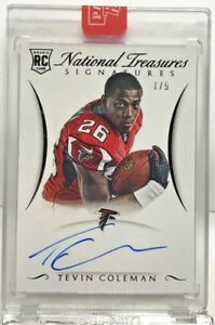 Tevin-Coleman-2015-National-Treasures-RPS-Black-RC-on-card-Autograph-Auto-d-1-5