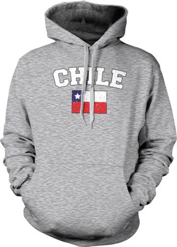 Chile Country Pride Flag Chilean La Roja Futbol Football Hoodie Pullover