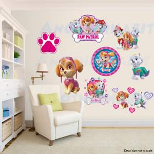 Paw Patrol Room Decor Girls - Wall Decal Removable Sticker | eBay