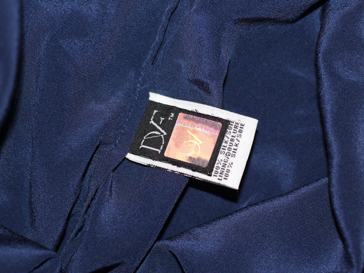 DIANA VON FURSTENBERG BLUE SILK LACE DRESS SIZE U… - image 10
