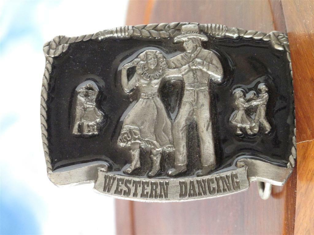*Western Dancing American Cowboy Belt Buckle… Made in USA - Collectible...