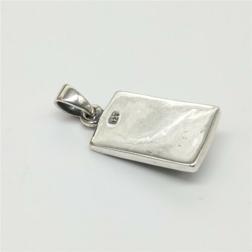 925 Sterling Silver Rectangular Dragon Pendant 3D for Necklace