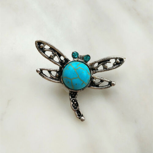Fashion Jewelry turquoise dragonfly Snaps Chunk Charm Bouton pour Noosa Bracelets