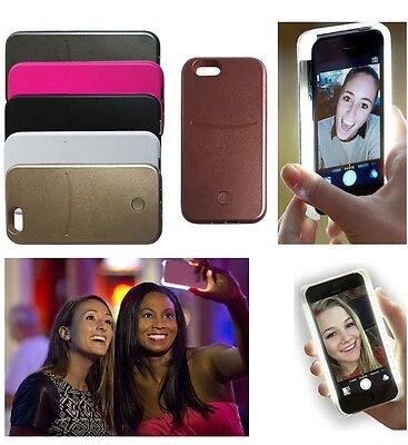 LED Selfie Light Up Latest Style Phone Case for iPhone 5/5S/SE, 6/6S & 6/6S Plus
