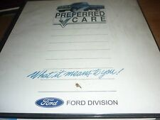 1992 FORD DEALERSHIP PREFERRED CARE DEALER ALBUM W VHS