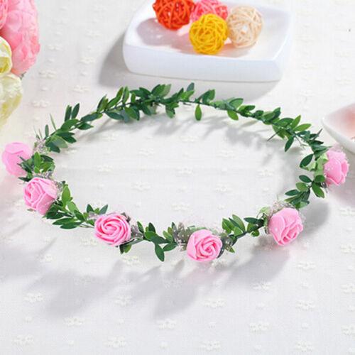 Süße Mädchen-Frauen-Rosen-Blumen-Kronen-Stirnband-Kranz-Partei-Hochzeits-Ko  VE