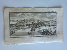 1743 Rogissart Les Delices de L'Italie: Veduta di Ostia, Tevere Roma Italia