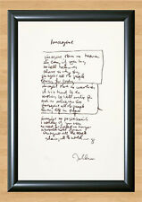 The Beatles John Lennon Imagine Lyrics Signed Autographed A4 Printed Print Photo
