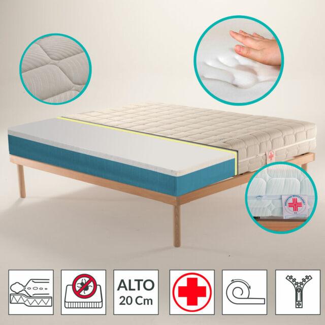 Misure Materasso Standard Matrimoniale.Materasso Matrimoniale Memory Ortopedico Dispositivo Medico Silver