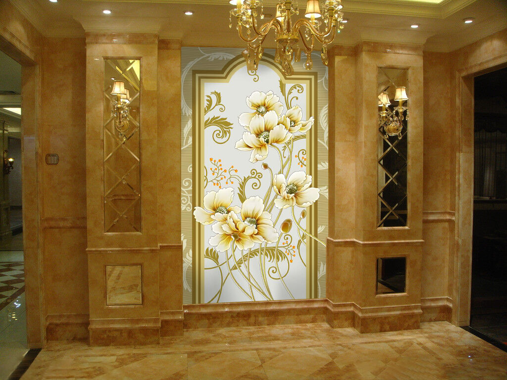 3D Swaying flowers 898 Wall Paper Wall Print Decal Wall Deco Indoor wall Murals