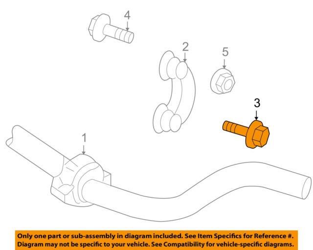 suspension stabilizer bar link bolt audi oem n10516701 for sale