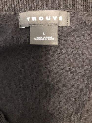 penzoloni con Trouve L Camicetta maglia nero in in accento leggera vZCnqRUw