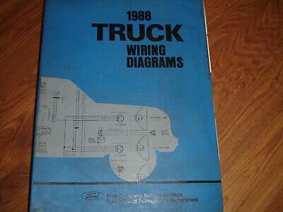 1988 Ford F600 F700 F800 COWL Truck Electrical WIRING DIAGRAMS SCHEMATIC  Manual   eBayeBay