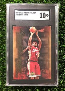 2004 Upper Deck Freshman Season LeBron James #28 SGC 10 GEM MINT (comp PSA 10?)