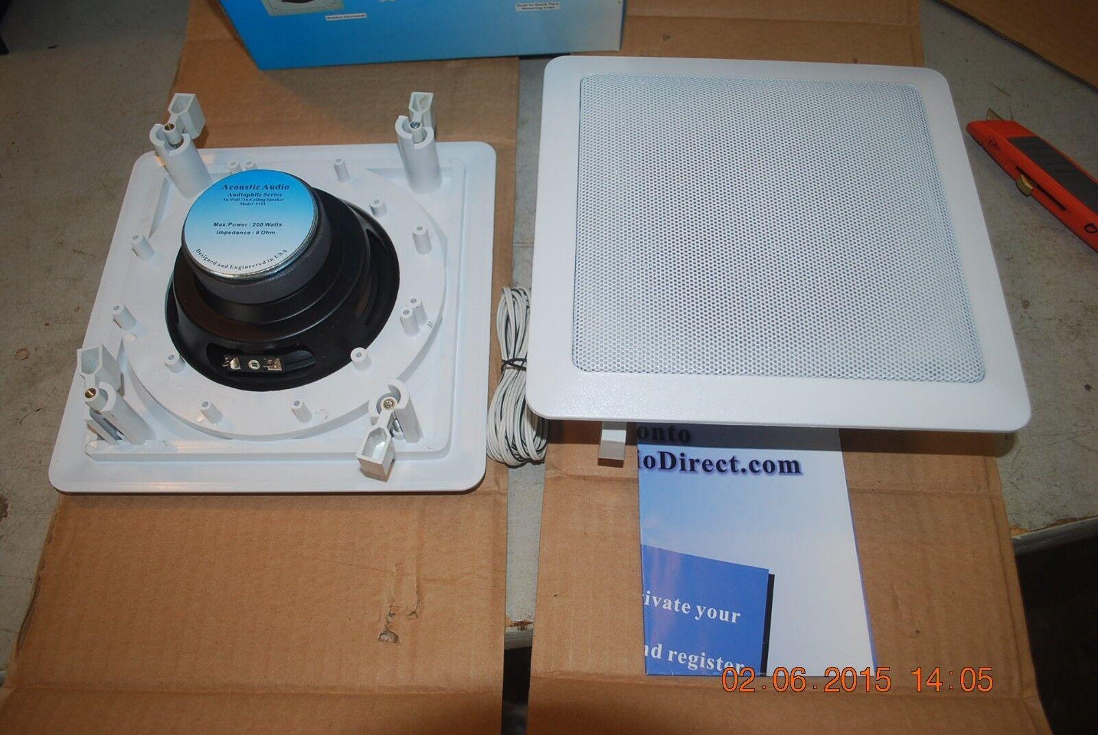 Acoustic Audio S191 In Ceiling   In Wall 5 Speaker Set 2 Way 1000 Watt S191-5S