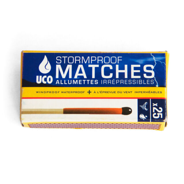 UCO Stormproof Matches Waterproof and Windproof 15 Second Burn Time 50