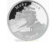 1 $dólares Pequod Moby Dick famous ships never sailed Tuvalu 1 Oz plata 2013