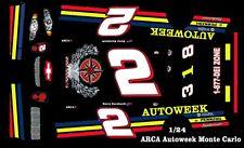 #2 Kerry Earnhardt Autoweek ARCA Monte Carlo  DEI 1/25th - 1/24th Scale Decals