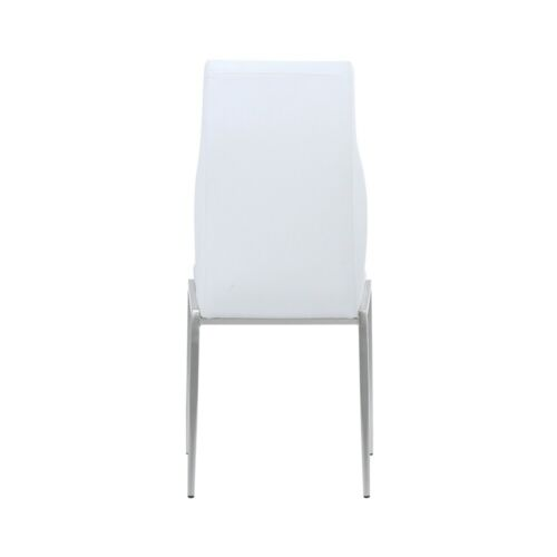 High Back Chair Dining Room, White (Pack of 2 chairs)