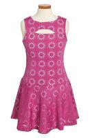 Nicole Miller Cutout Sleeveless Dress Pink Floral Big Girls [sz Medium] 236