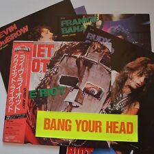 """QUIET RIOT- LIVE RIOT - 1983 JAPAN 12"""" MAXI  4-TRACKS + PHOTOS-SET & STICKER"""