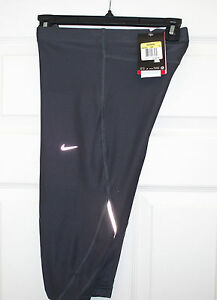 NWT-Nike-Sprinter-Running-Capri-Pants-Tights-Sz-S-446352-068-Anthracite