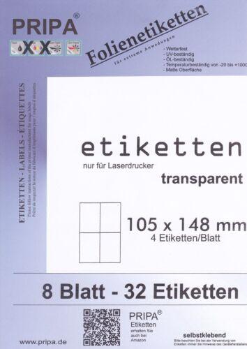 transparent selbstklebend Etiketten wasserfest wetterfest hitzebeständig weiß