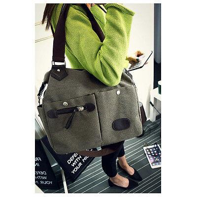 Women New Canvas Shoulder Bag Satchel Crossbody Tote Handbag Purse Messenger US