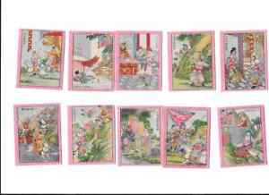 Chinese-Series-1930-FOH-CHONG-TOBACCO-CO-SHANGHAL-FULL-SET-OF-10-TRADE-CARDS
