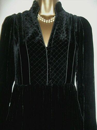 KEW Black Silk Velvet Dress Size 10  UK Period look beautiful