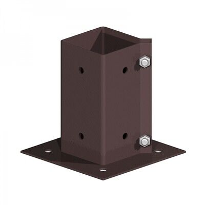 75mm x 75mm Galvanised Fencemate Swift Clamp Wall Mount Post Support