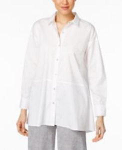 Eileen Fisher Organic Cotton-Blend OverGrößed Shirt S7LAW-T4121M