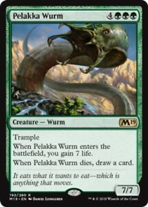 4x-Pelakka-Wurm-NM-Mint-English-Core-Set-2019-MTG-Magic