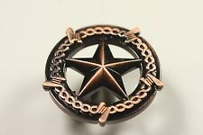STAR WITH BARBWIRE KNOB ANTIQUE COPPER WESTERN CABINET HARDWARE DRAWER PULLS