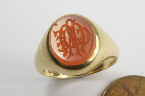 ANTIQUE 18K GOLD MOURNING RING c1922 G WILLIAMSON