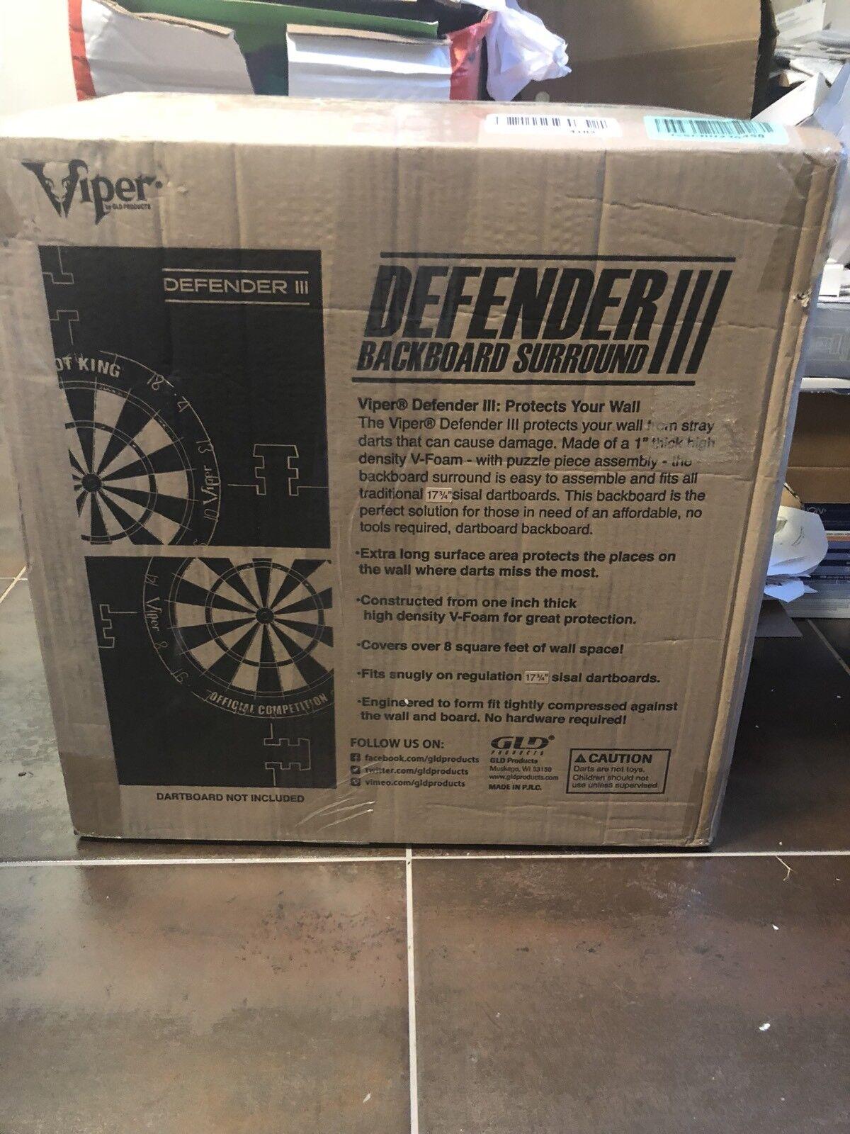 "Defender III  3  Dartboard Surround Wall Predector STEEL TIP DARTS 1"" V-Foam Pad"