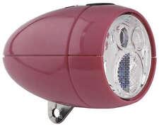 NEW Axa Vintage / Retro LED Front Bike Head light PINK batterylight + bracket